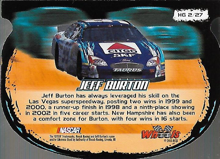 2003-Wheels-High-Gear-Racing-Insert-Card-Pick thumbnail 24