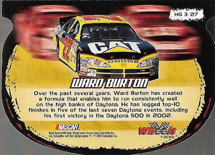 2003-Wheels-High-Gear-Racing-Insert-Card-Pick thumbnail 26