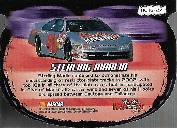 2003-Wheels-High-Gear-Racing-Insert-Card-Pick thumbnail 49