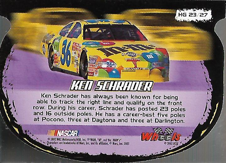 2003-Wheels-High-Gear-Racing-Insert-Card-Pick thumbnail 63