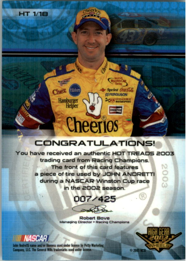 2003-Wheels-High-Gear-Racing-Insert-Card-Pick thumbnail 71