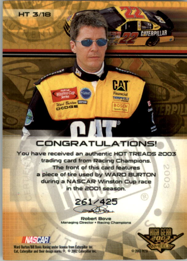 2003-Wheels-High-Gear-Racing-Insert-Card-Pick thumbnail 73