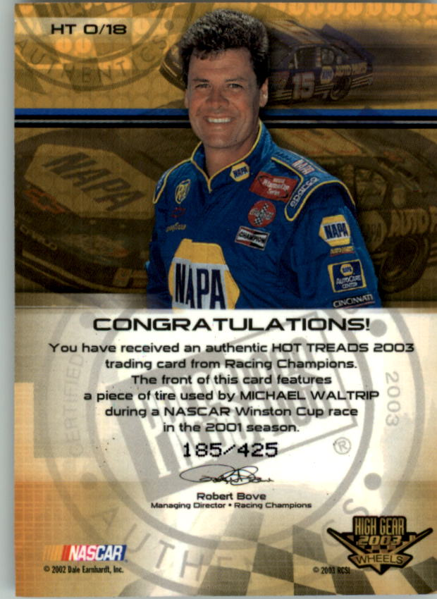 2003-Wheels-High-Gear-Racing-Insert-Card-Pick thumbnail 75