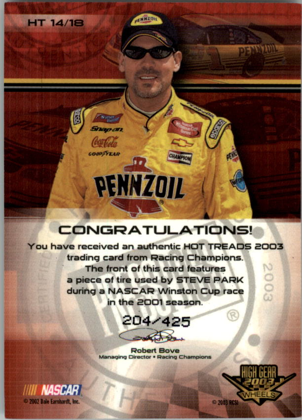 2003-Wheels-High-Gear-Racing-Insert-Card-Pick thumbnail 83