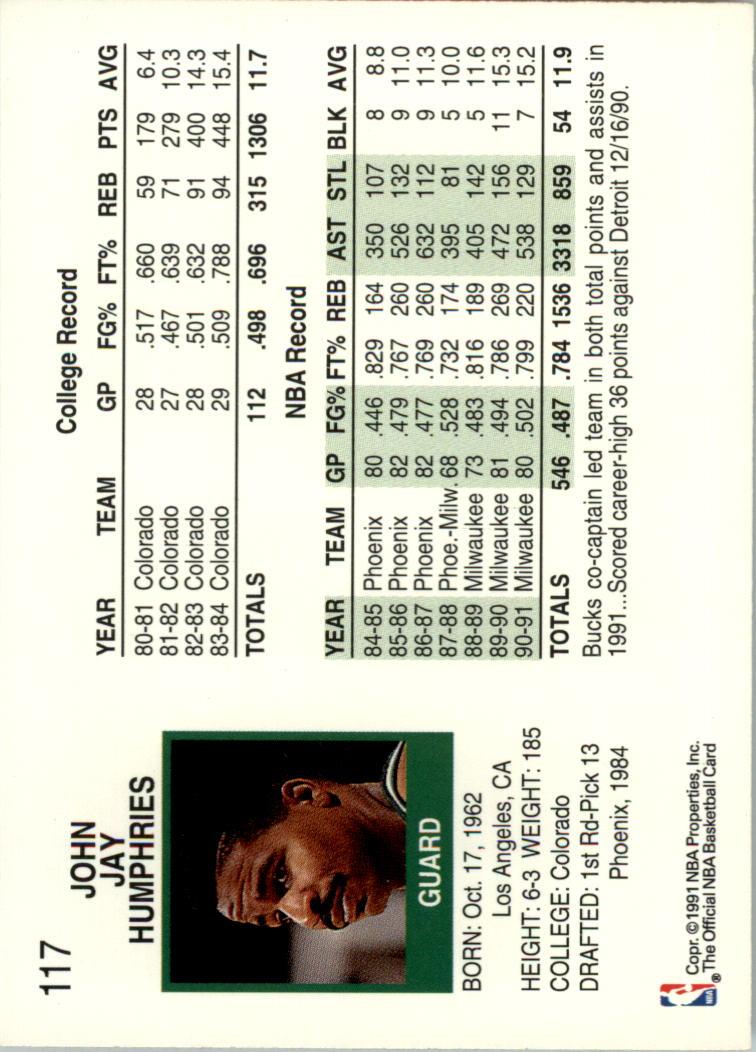 thumbnail 219 - 1991-92 Hoops Basketball Card Pick 1-250