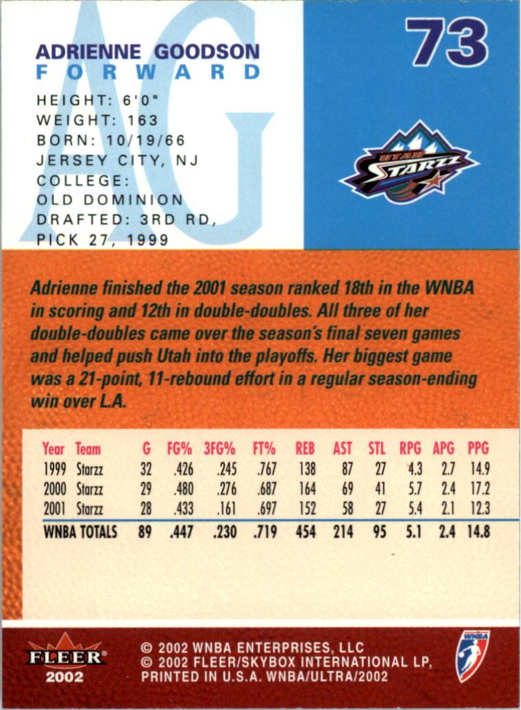 2002-Ultra-Wnba-Basketball-Carte-Choisissez miniature 147