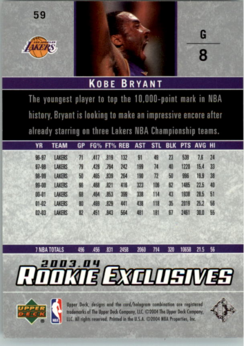2003-04-Upper-Deck-Rookie-Exclusives-Basketball-Card-Pick thumbnail 110