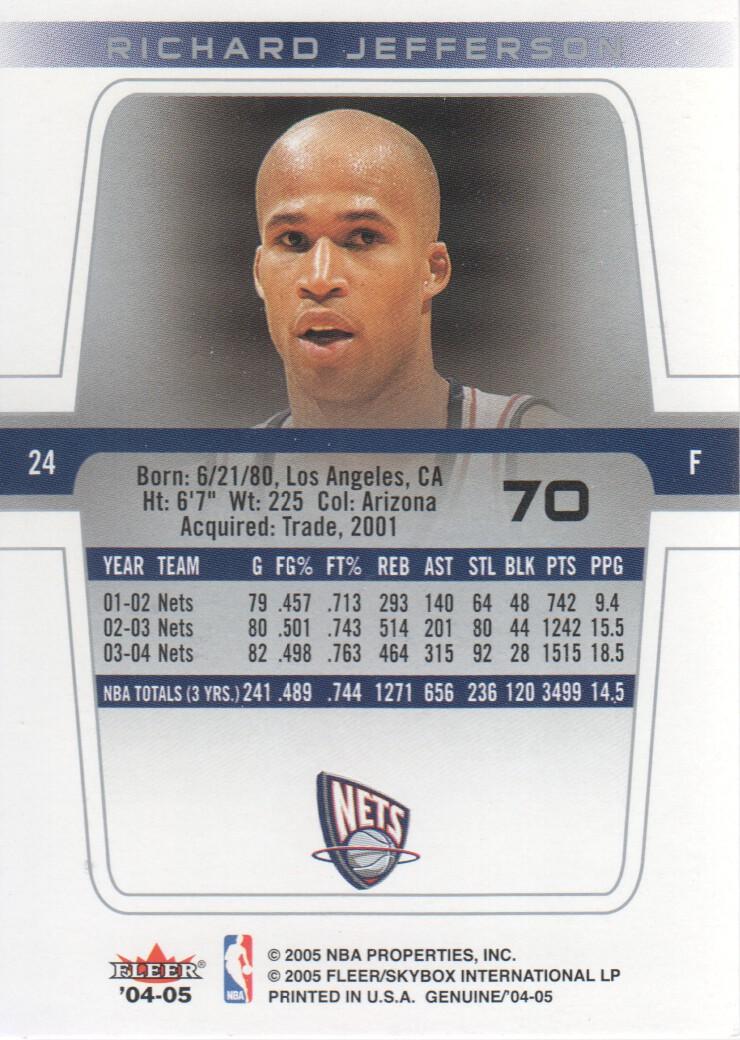 2004-05-Fleer-Genuine-Basketball-Cards-Pick-From-List thumbnail 77