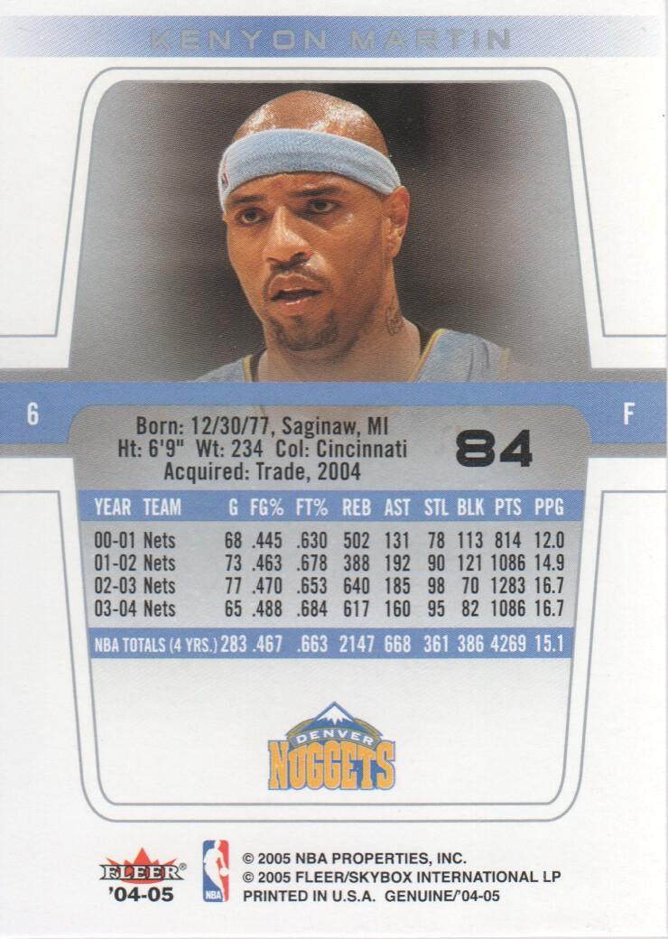 2004-05-Fleer-Genuine-Basketball-Cards-Pick-From-List thumbnail 89