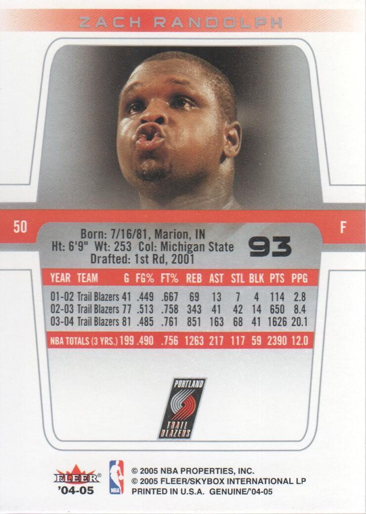 2004-05-Fleer-Genuine-Basketball-Cards-Pick-From-List thumbnail 103