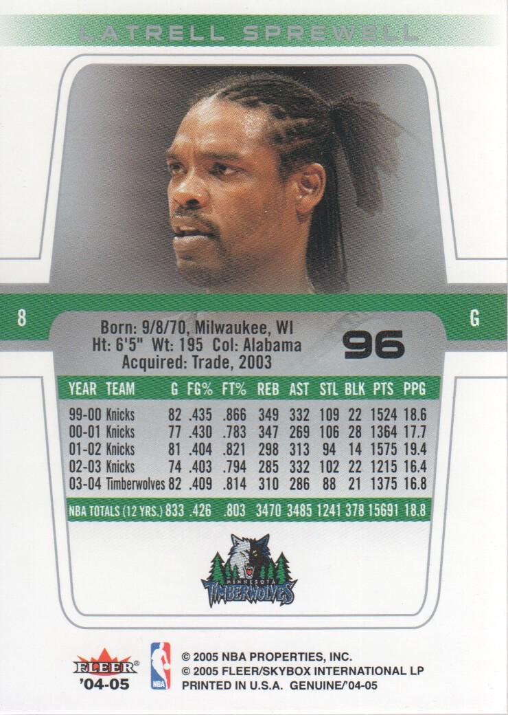2004-05-Fleer-Genuine-Basketball-Cards-Pick-From-List thumbnail 107
