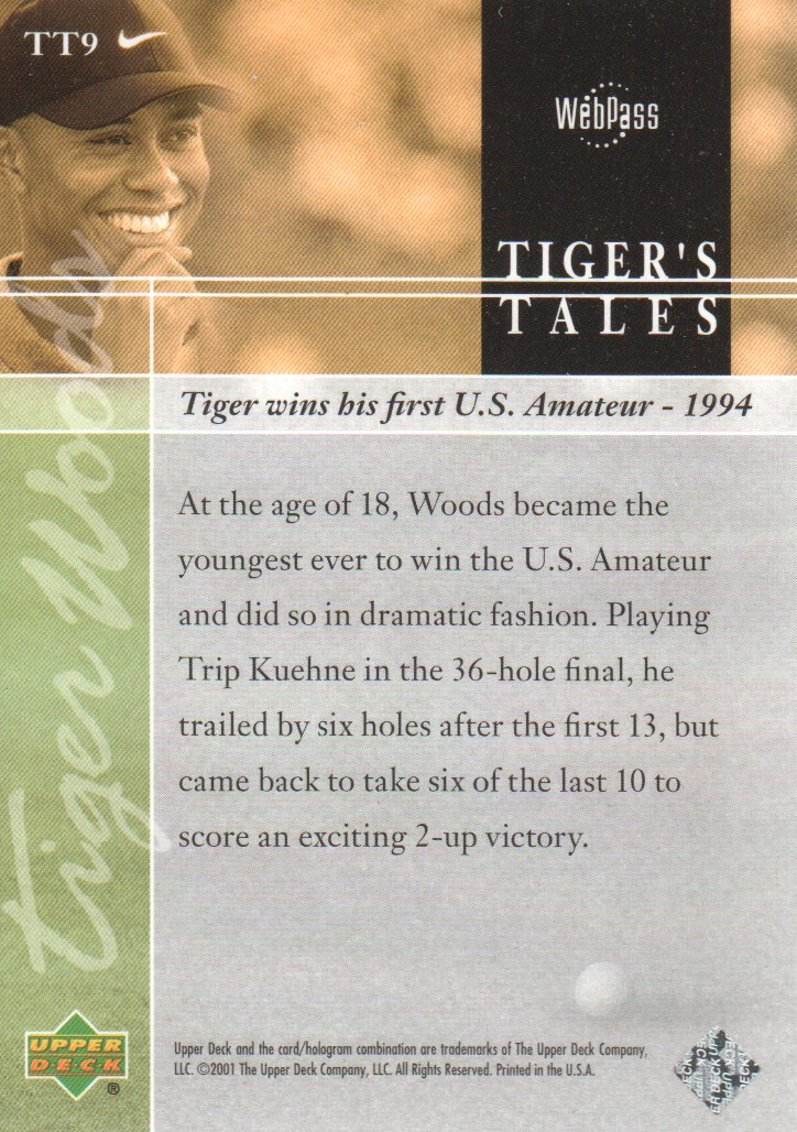 2001-Upper-Deck-Tiger-039-s-Tales-Golf-Cards-Pick-From-List miniature 19