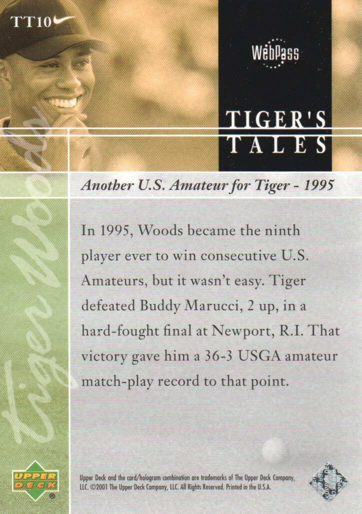 2001-Upper-Deck-Tiger-039-s-Tales-Golf-Cards-Pick-From-List miniature 21