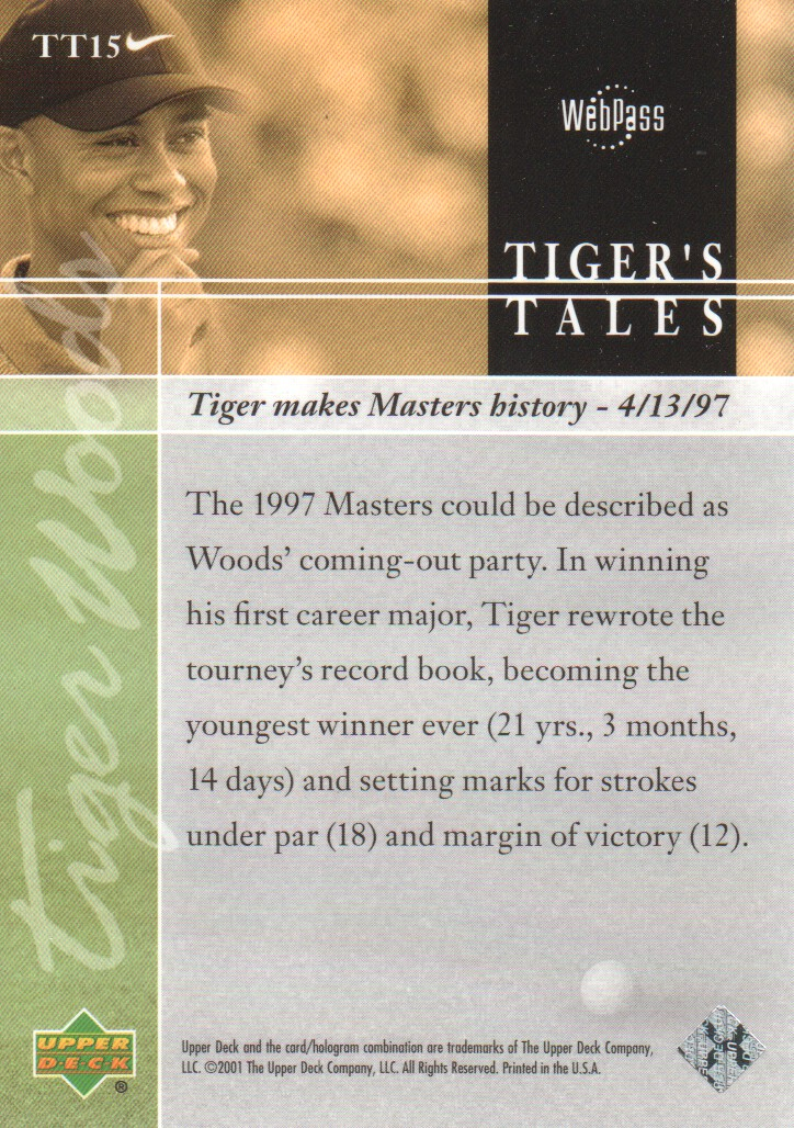 2001-Upper-Deck-Tiger-039-s-Tales-Golf-Cards-Pick-From-List miniature 31