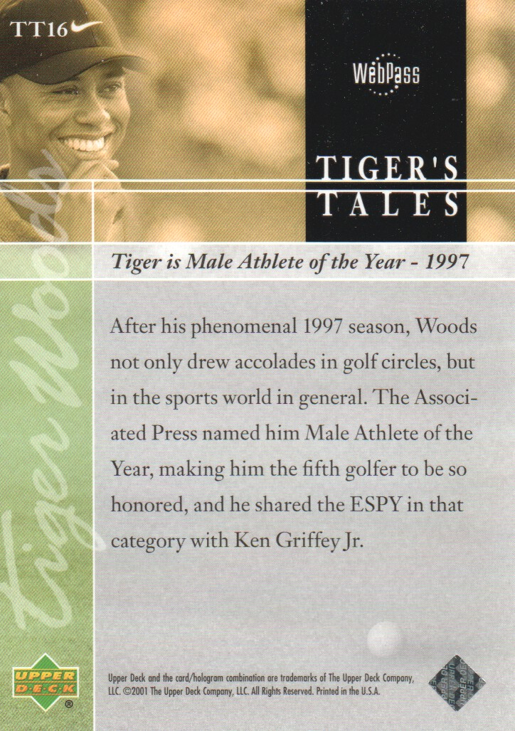 2001-Upper-Deck-Tiger-039-s-Tales-Golf-Cards-Pick-From-List miniature 33