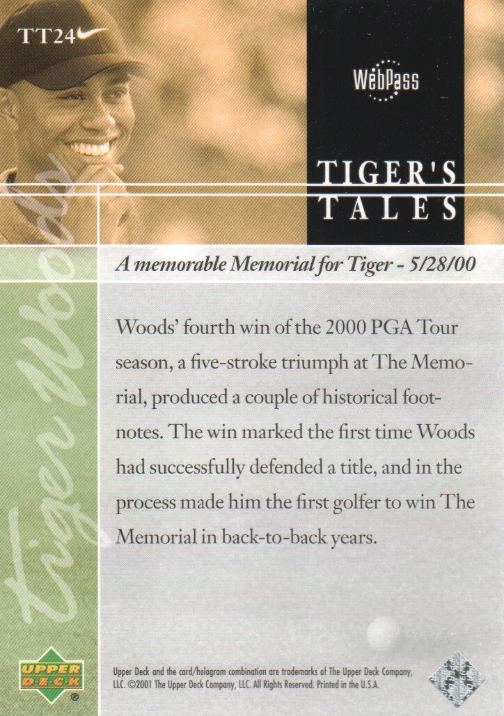 2001-Upper-Deck-Tiger-039-s-Tales-Golf-Cards-Pick-From-List miniature 49