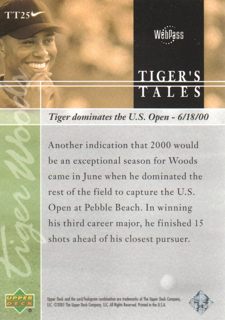 2001-Upper-Deck-Tiger-039-s-Tales-Golf-Cards-Pick-From-List miniature 51