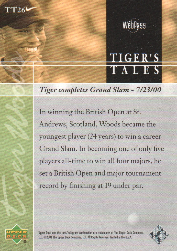 2001-Upper-Deck-Tiger-039-s-Tales-Golf-Cards-Pick-From-List miniature 53