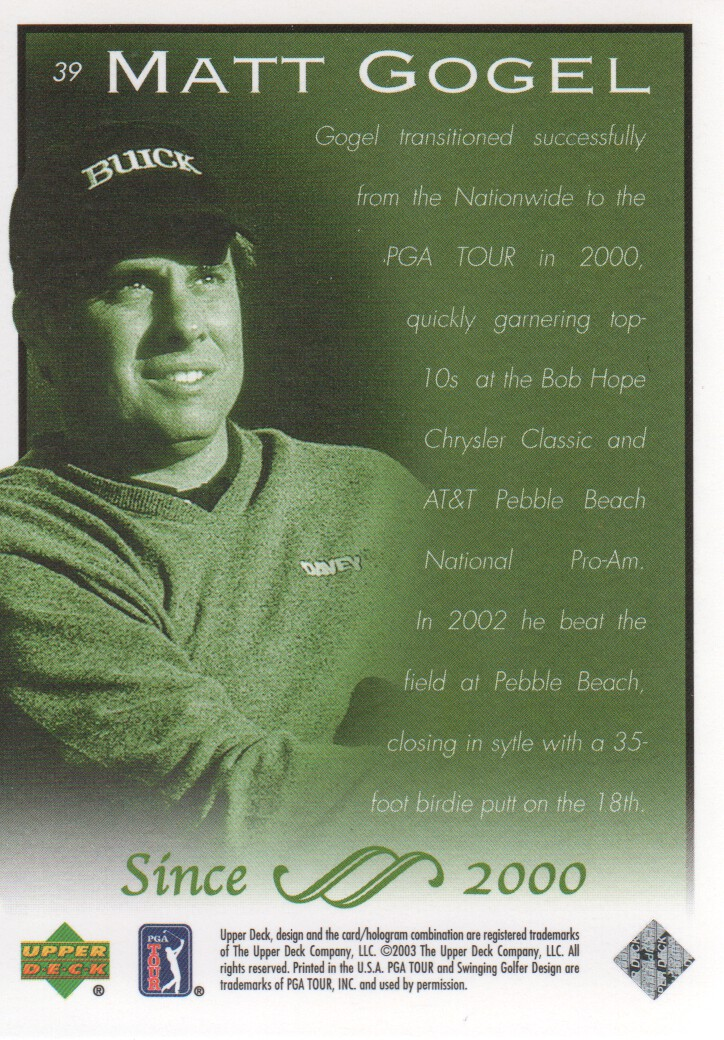 2003-Upper-Deck-Golf-Cards-Pick-From-List miniature 77