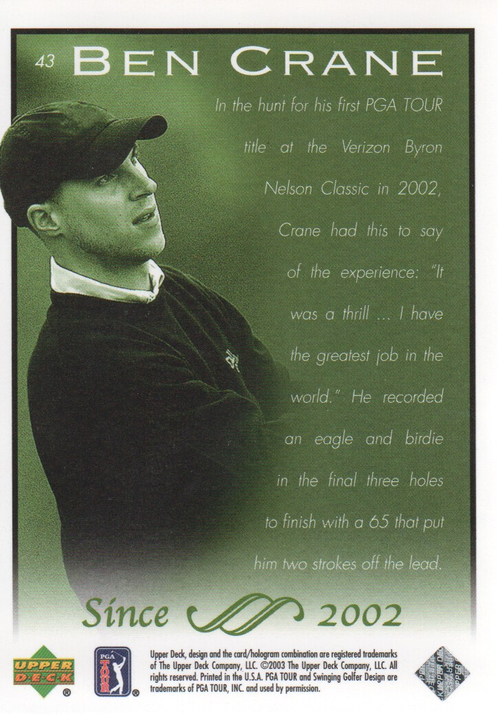2003-Upper-Deck-Golf-Cards-Pick-From-List miniature 81