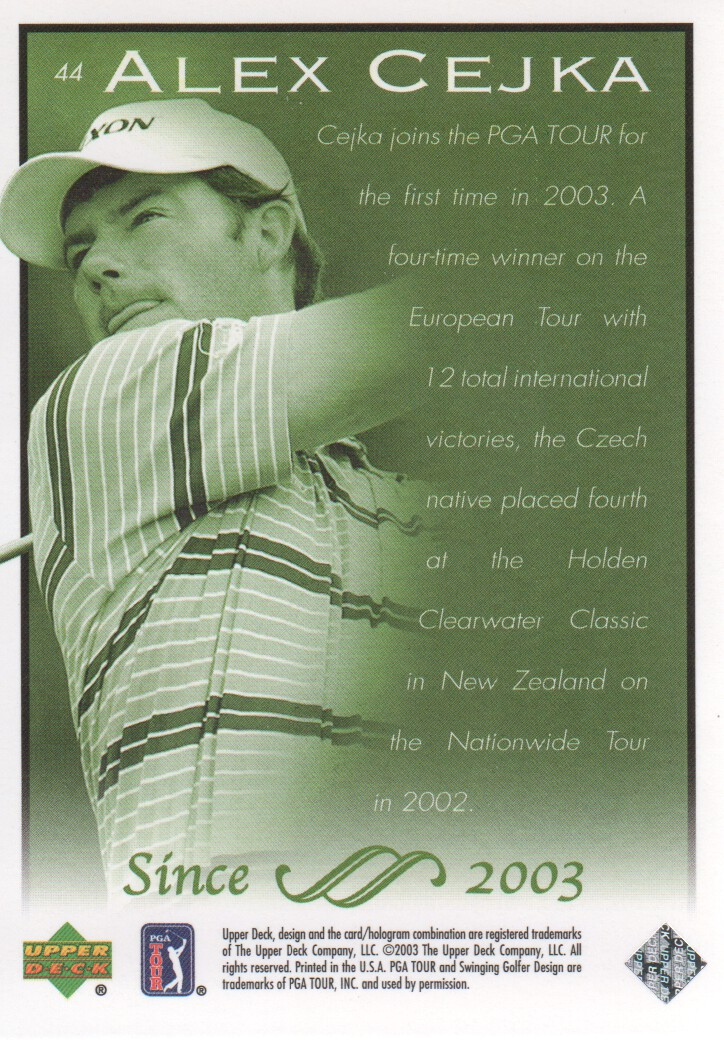 2003-Upper-Deck-Golf-Cards-Pick-From-List miniature 83