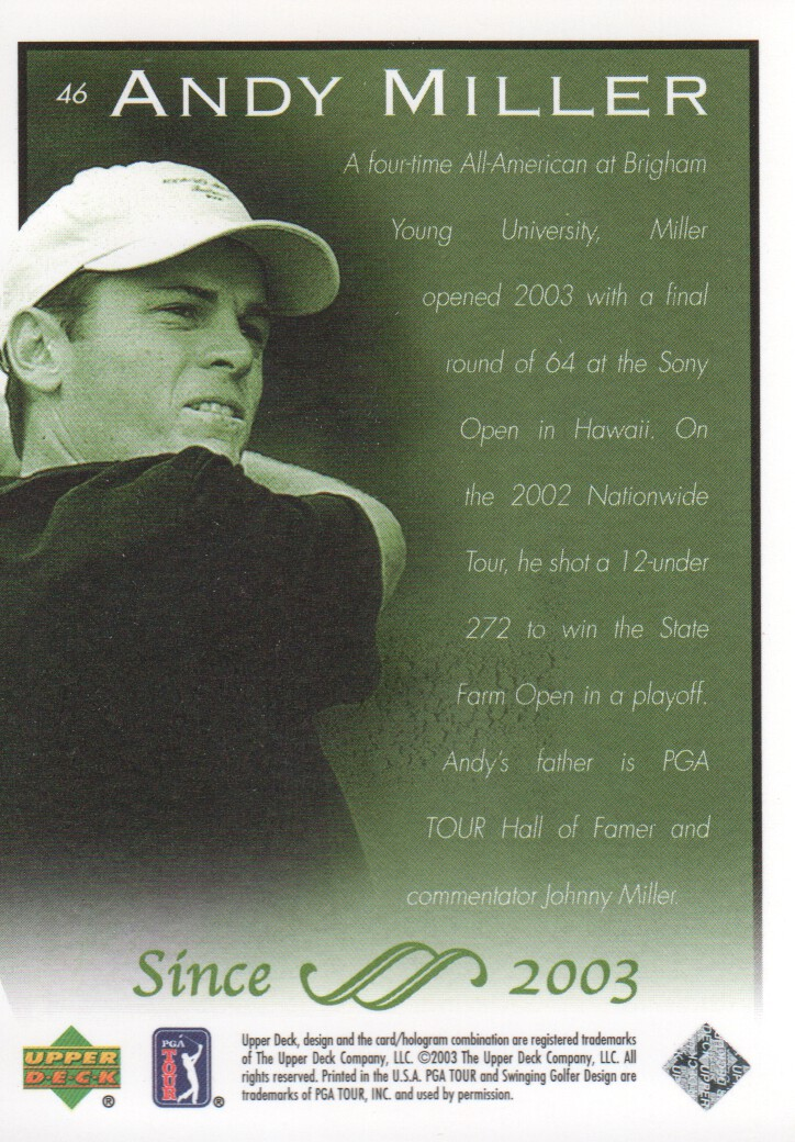 2003-Upper-Deck-Golf-Cards-Pick-From-List miniature 87
