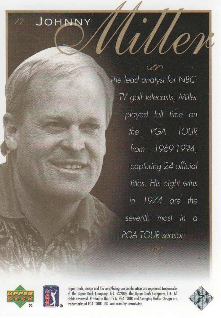 2003-Upper-Deck-Golf-Cards-Pick-From-List miniature 115