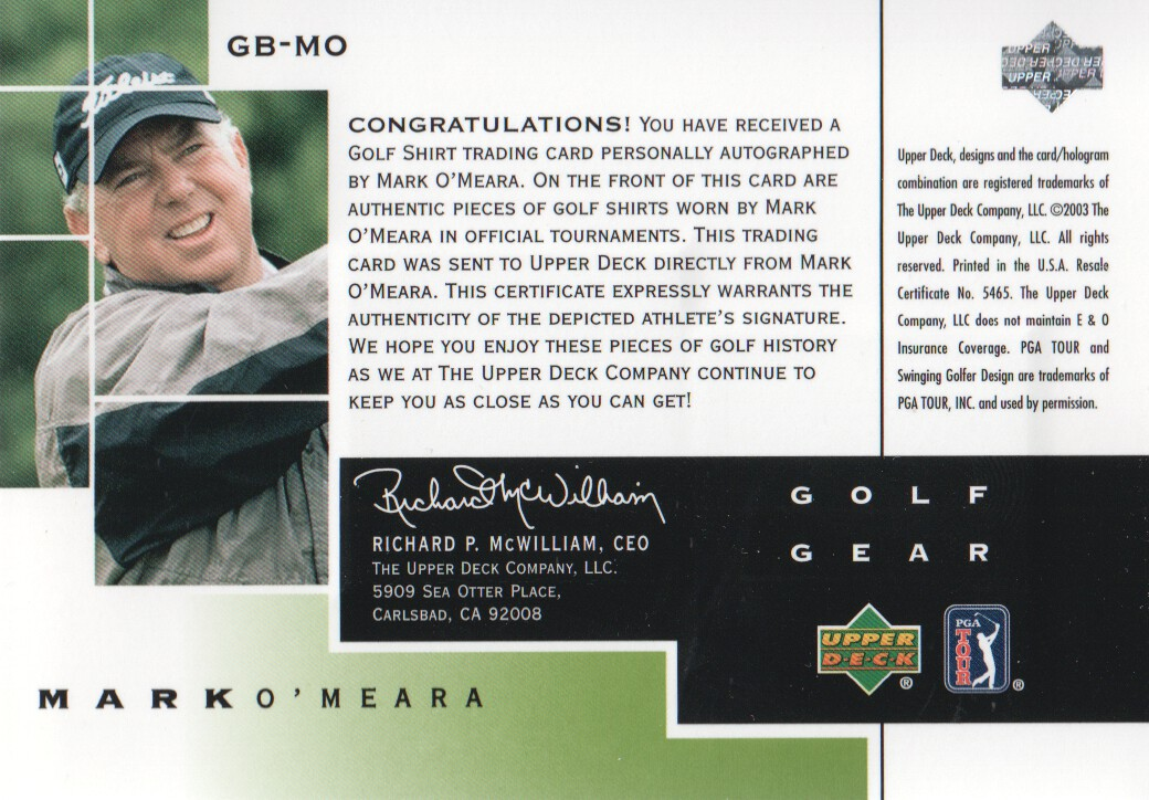 2003-Upper-Deck-Golf-Cards-Pick-From-List miniature 197