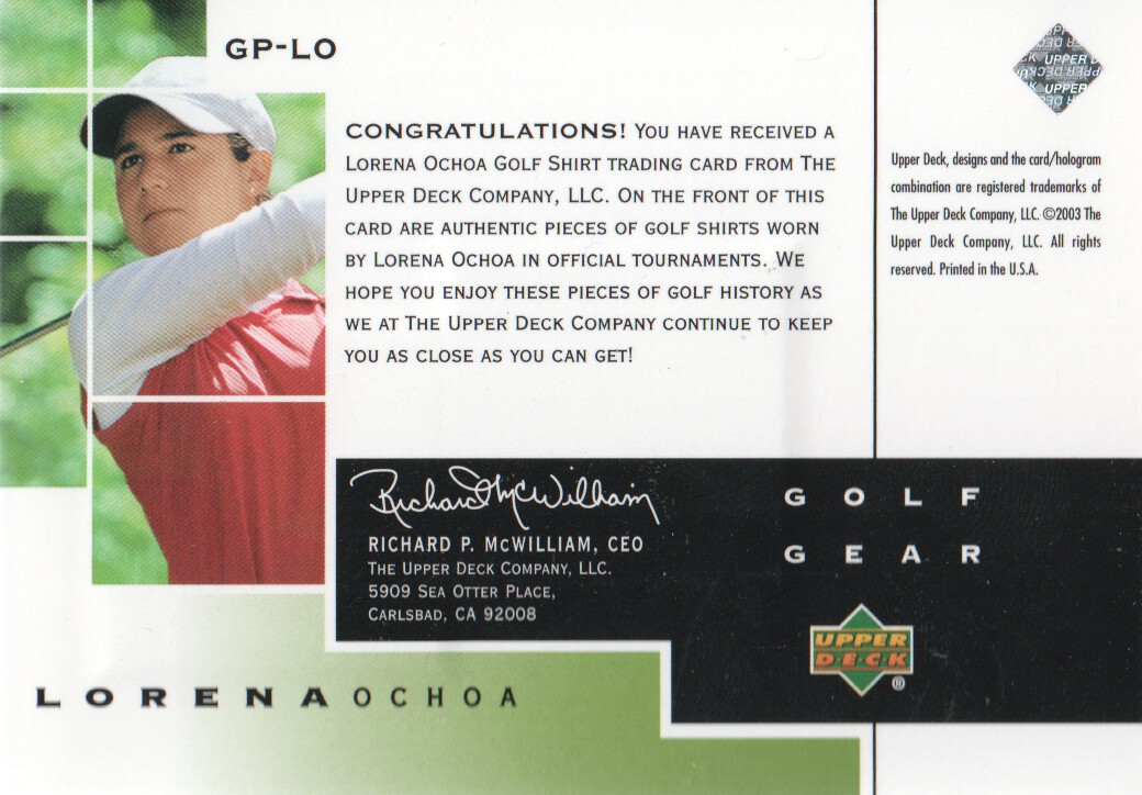 2003-Upper-Deck-Golf-Cards-Pick-From-List miniature 199