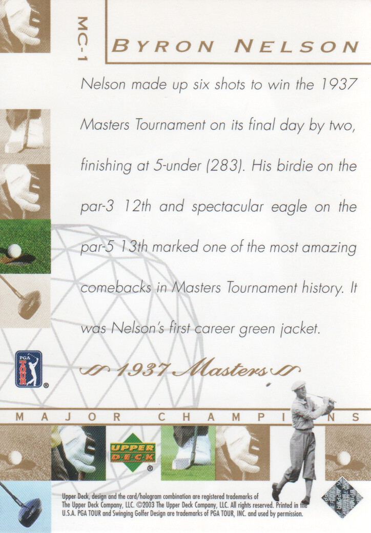 2003-Upper-Deck-Golf-Cards-Pick-From-List miniature 201