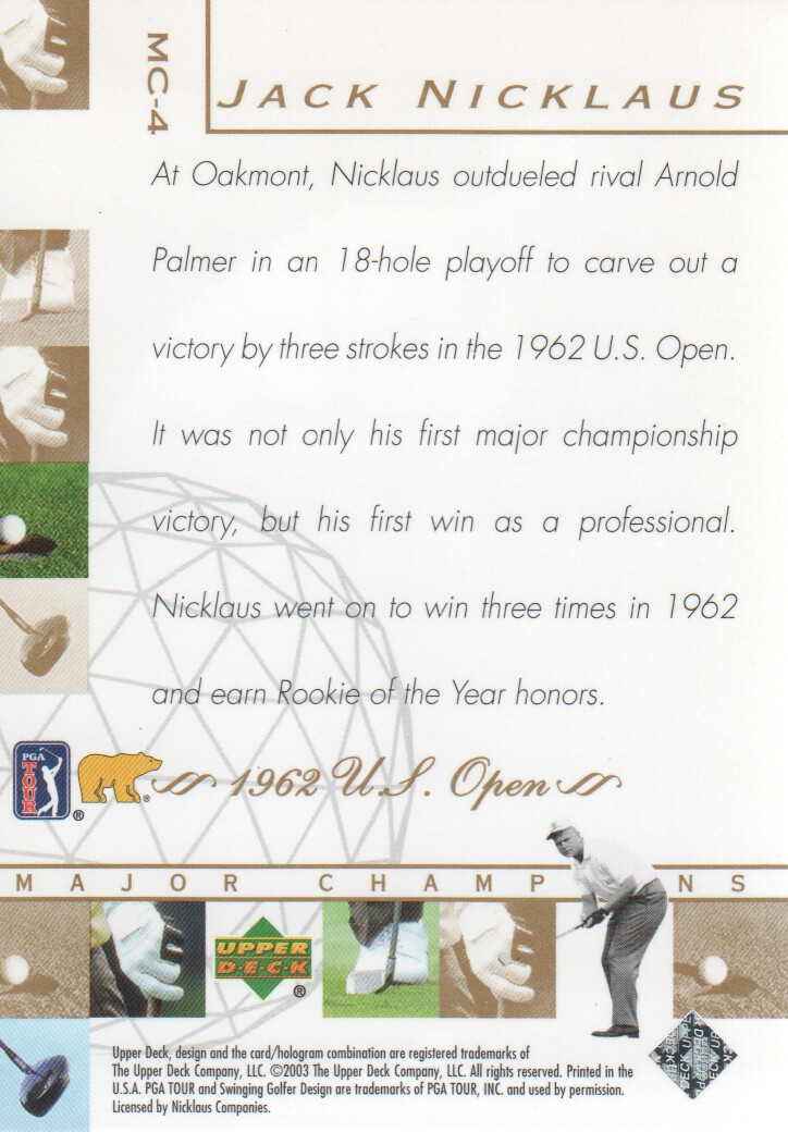 2003-Upper-Deck-Golf-Cards-Pick-From-List miniature 203