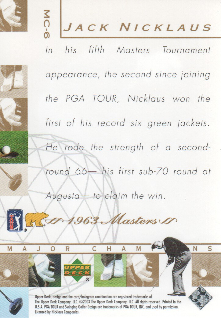 2003-Upper-Deck-Golf-Cards-Pick-From-List miniature 207