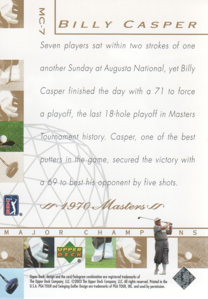 2003-Upper-Deck-Golf-Cards-Pick-From-List miniature 209