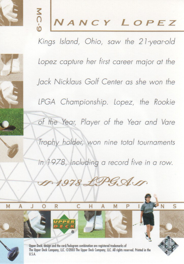 2003-Upper-Deck-Golf-Cards-Pick-From-List miniature 213