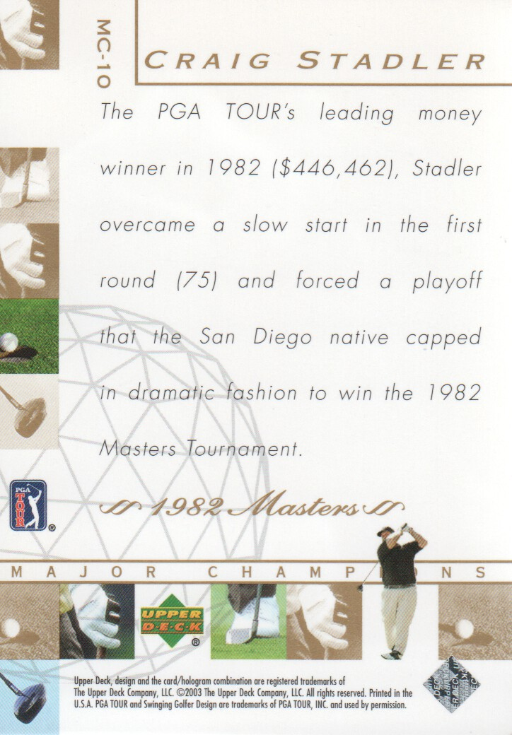 2003-Upper-Deck-Golf-Cards-Pick-From-List miniature 215
