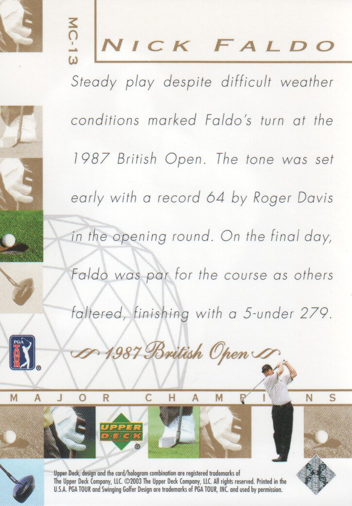 2003-Upper-Deck-Golf-Cards-Pick-From-List miniature 219