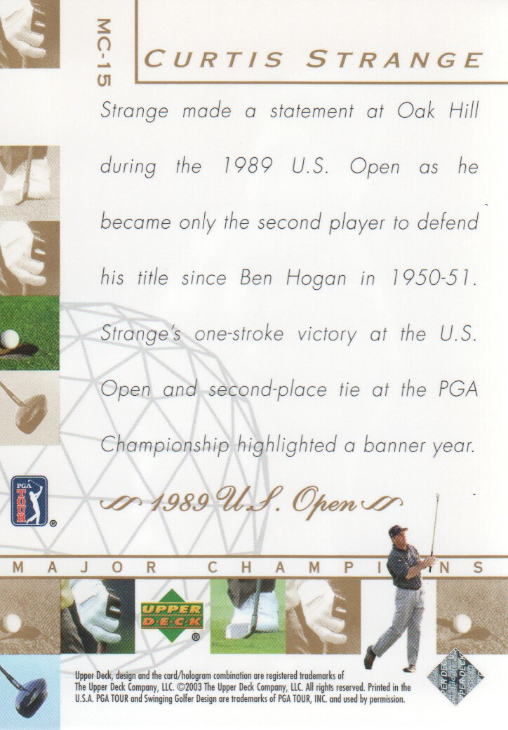 2003-Upper-Deck-Golf-Cards-Pick-From-List miniature 223