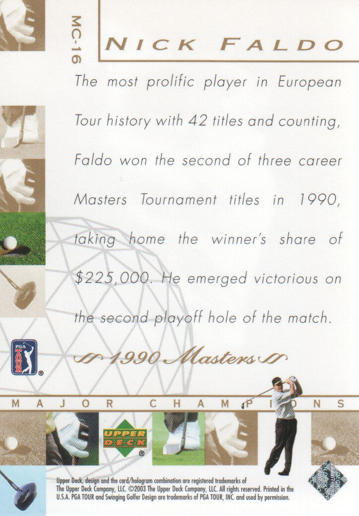 2003-Upper-Deck-Golf-Cards-Pick-From-List miniature 225