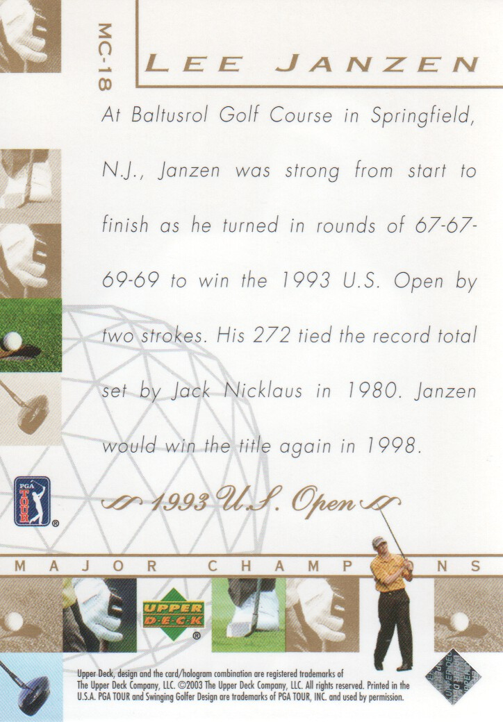2003-Upper-Deck-Golf-Cards-Pick-From-List miniature 229