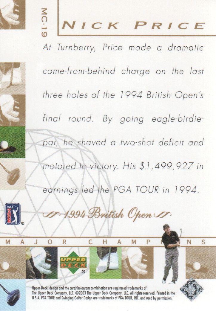 2003-Upper-Deck-Golf-Cards-Pick-From-List miniature 231