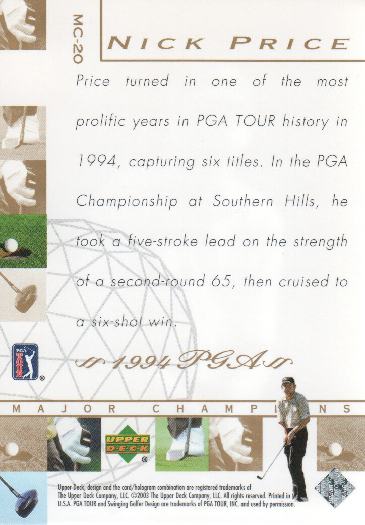 2003-Upper-Deck-Golf-Cards-Pick-From-List miniature 233