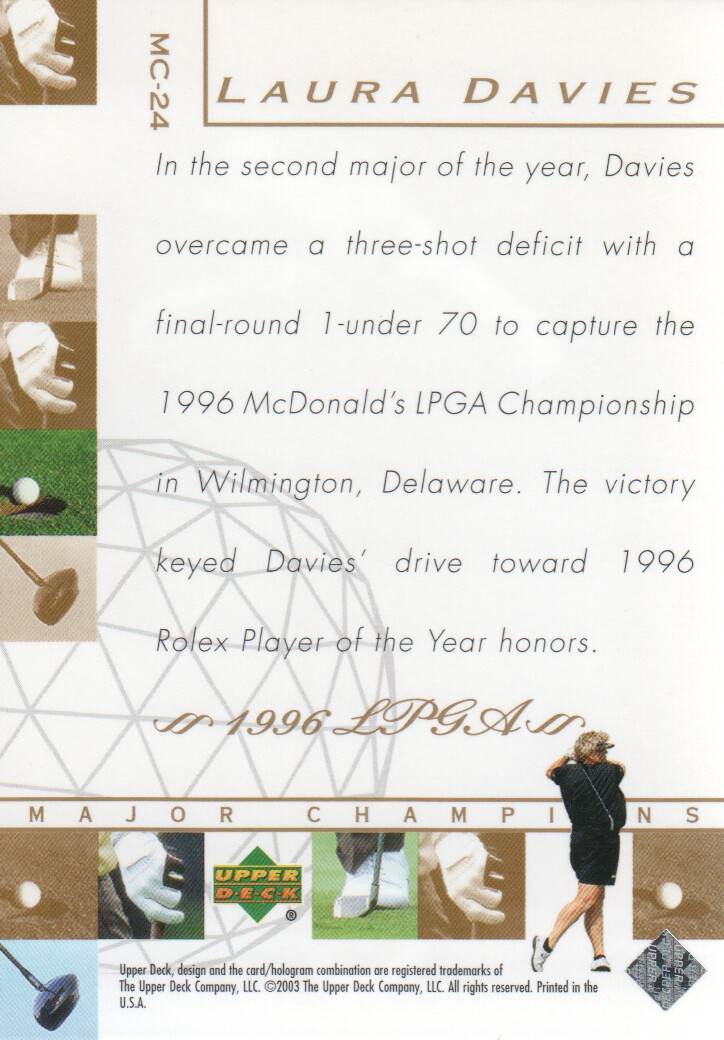 2003-Upper-Deck-Golf-Cards-Pick-From-List miniature 241