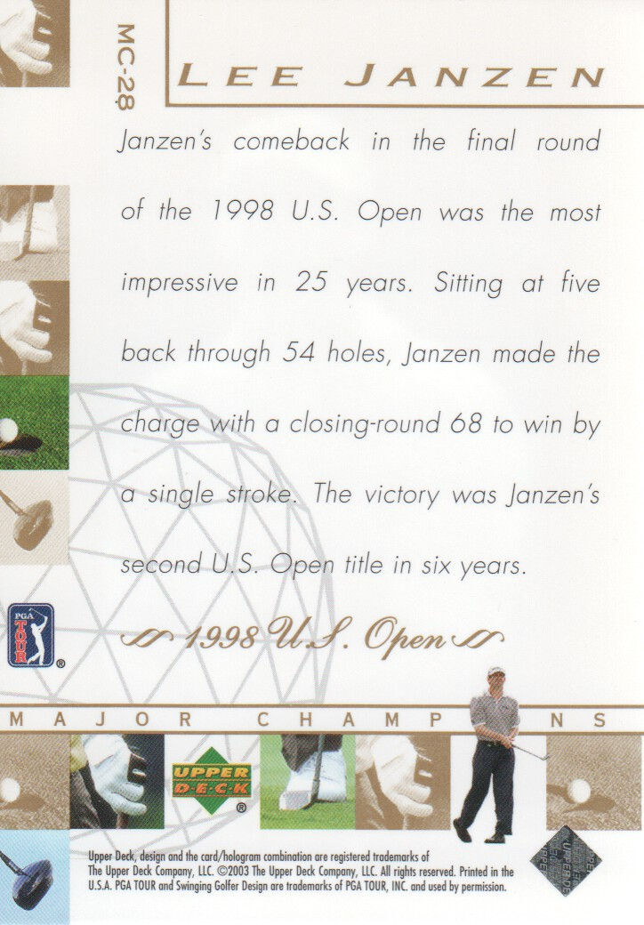 2003-Upper-Deck-Golf-Cards-Pick-From-List miniature 247