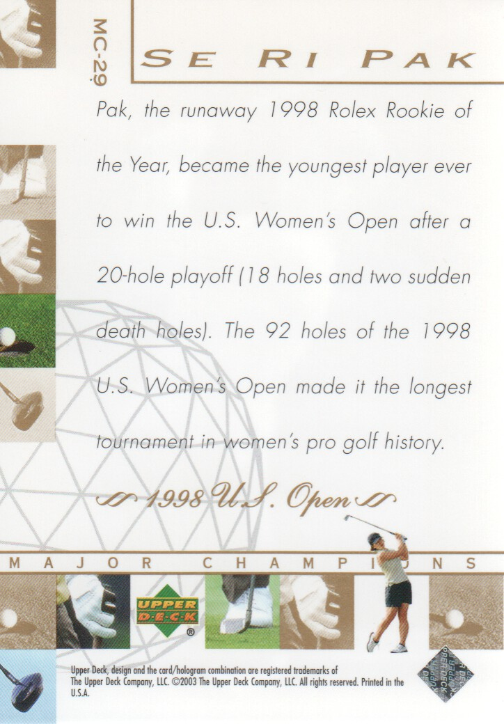 2003-Upper-Deck-Golf-Cards-Pick-From-List miniature 249