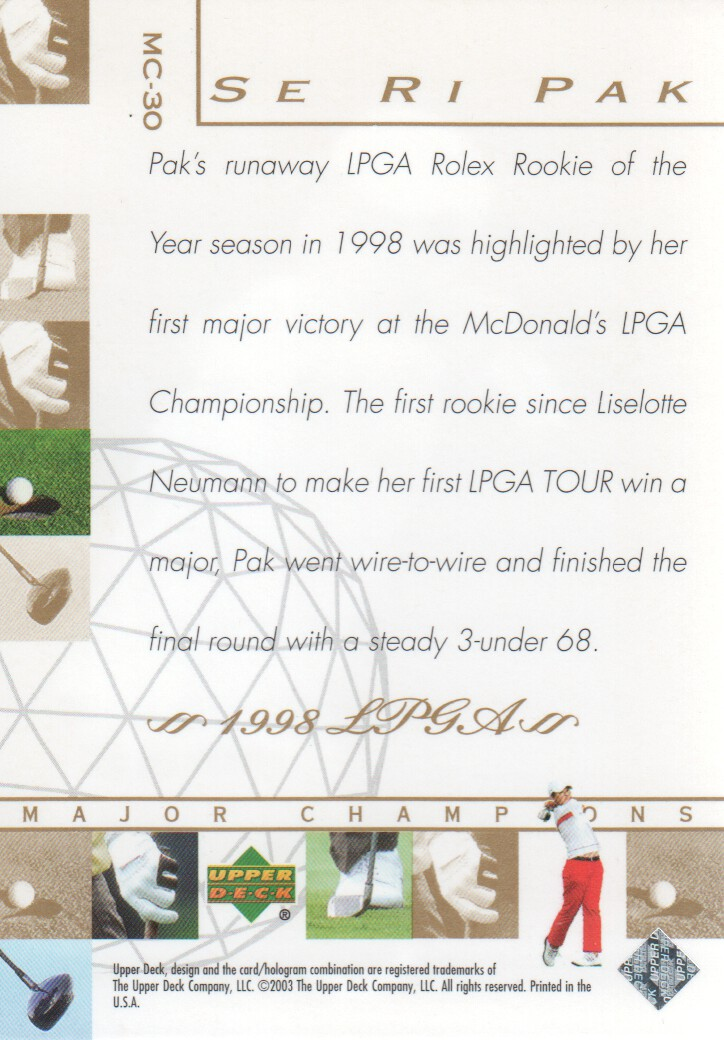 2003-Upper-Deck-Golf-Cards-Pick-From-List miniature 251