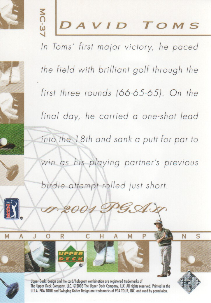 2003-Upper-Deck-Golf-Cards-Pick-From-List miniature 257