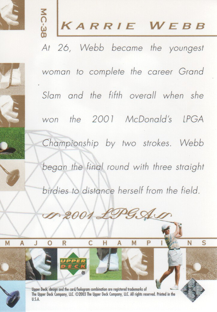 2003-Upper-Deck-Golf-Cards-Pick-From-List miniature 259
