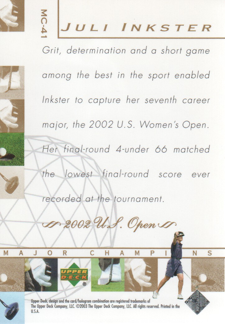2003-Upper-Deck-Golf-Cards-Pick-From-List miniature 261