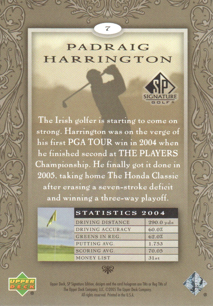 2005-SP-Signature-Golf-Cards-Pick-From-List miniature 3
