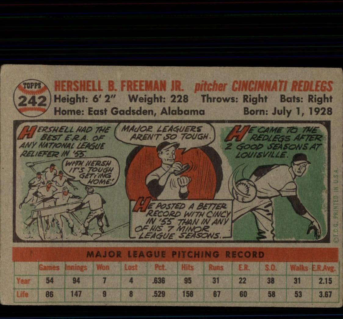 1956-TOPPS-BASEBALL-ASSORTED-SINGLES-U-PICK-242-319 thumbnail 3